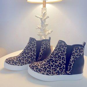 Steve Madden Leopard Wedge, Cheetah Wedge, boots